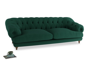 Extra large Bagsie Sofa in Cypress Green Vintage Linen