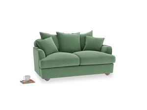 Small Smooch Sofa in Thyme Green Vintage Linen