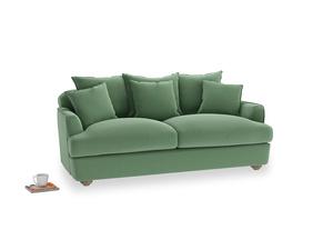 Medium Smooch Sofa in Thyme Green Vintage Linen