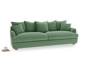 Extra large Smooch Sofa in Thyme Green Vintage Linen