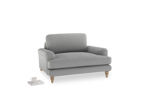 Cinema Love Seat in Magnesium washed cotton linen