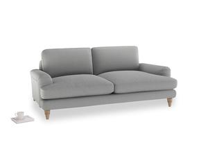 Medium Cinema Sofa in Magnesium washed cotton linen