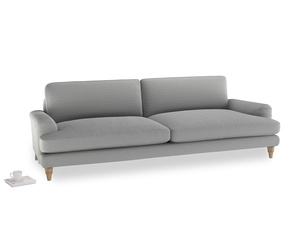 Extra large Cinema Sofa in Magnesium washed cotton linen
