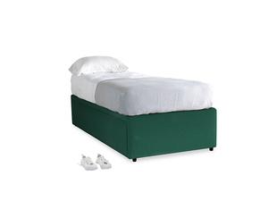 Single Friends Trundle Bed in Cypress Green Vintage Linen