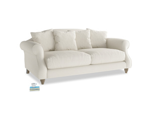 Medium Sloucher Sofa in Chalky White Clever Softie