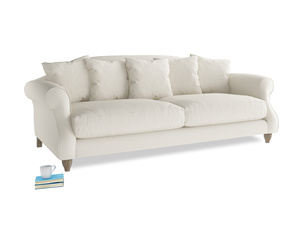 Large Sloucher Sofa in Chalky White Clever Softie