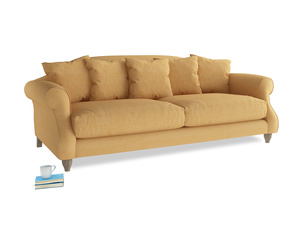 Large Sloucher Sofa in Honeycomb Clever Softie