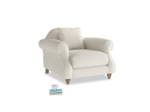 Sloucher Armchair in Chalky White Clever Softie