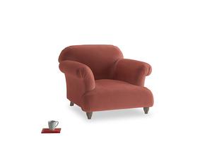 Soufflé Armchair in Dusty Cinnamon Clever Velvet