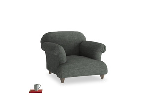 Soufflé Armchair in Pencil Grey Clever Laundered Linen