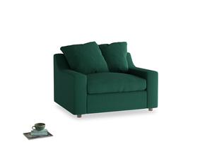 Cloud Love seat in Cypress Green Vintage Linen