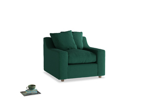 Cloud Armchair in Cypress Green Vintage Linen