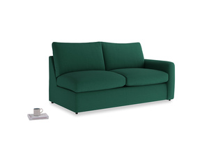Chatnap Sofa Bed in Cypress Green Vintage Linen with a right arm