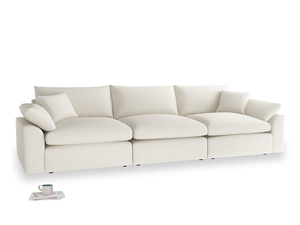 Large Cuddlemuffin Modular sofa in Chalky White Clever Softie
