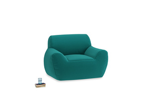 Layabout Chair Squidger in Indian green Brushed Cotton