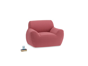 Layabout Chair Squidger in Raspberry brushed cotton
