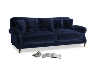 Large Crumpet Sofa in Goodnight blue Clever Deep Velvet