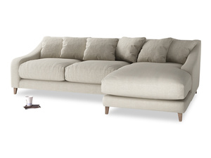 XL Right Hand  Oscar Chaise Sofa in Thatch house fabric