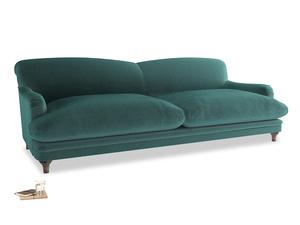 Extra large Pudding Sofa in Real Teal clever velvet