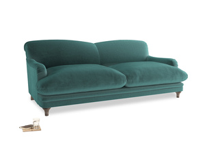 Large Pudding Sofa in Real Teal clever velvet