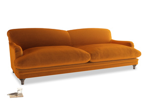 Extra large Pudding Sofa in Spiced Orange clever velvet