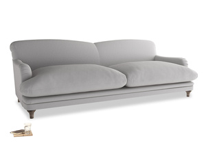 Extra large Pudding Sofa in Flint brushed cotton