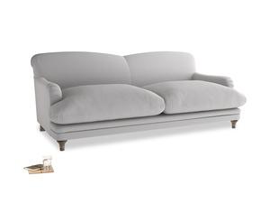 Large Pudding Sofa in Flint brushed cotton