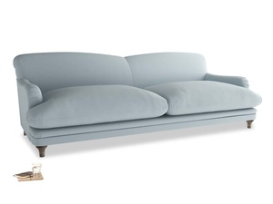 Extra large Pudding Sofa in Scandi blue clever cotton