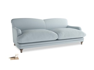 Large Pudding Sofa in Scandi blue clever cotton