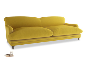 Extra large Pudding Sofa in Bumblebee clever velvet