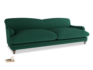 Extra large Pudding Sofa in Cypress Green Vintage Linen