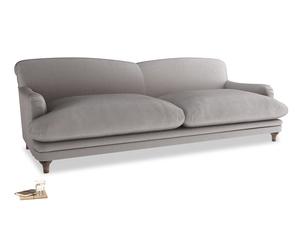 Extra large Pudding Sofa in Soothing grey vintage velvet