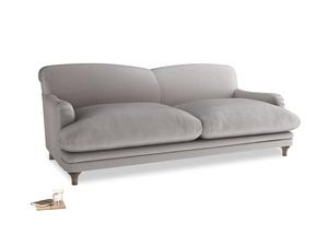 Large Pudding Sofa in Soothing grey vintage velvet