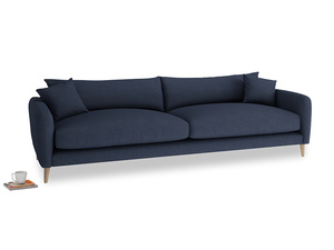 Extra large Squishmeister Sofa in Night Owl Blue Clever Woolly Fabric