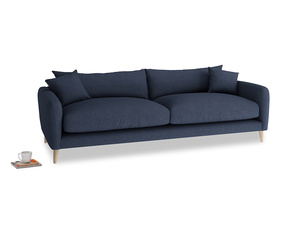 Large Squishmeister Sofa in Night Owl Blue Clever Woolly Fabric