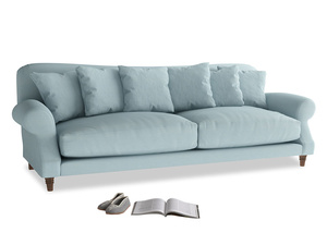 Extra large Crumpet Sofa in Powder Blue Clever Softie