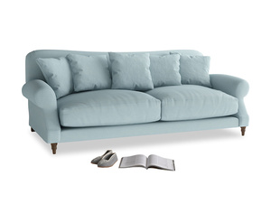 Large Crumpet Sofa in Powder Blue Clever Softie