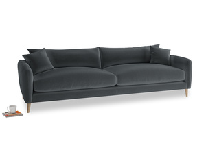 Extra large Squishmeister Sofa in Dark grey Clever Deep Velvet