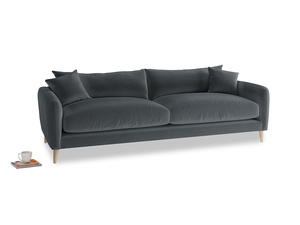 Large Squishmeister Sofa in Dark grey Clever Deep Velvet