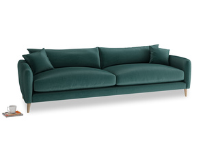 Extra large Squishmeister Sofa in Timeless teal vintage velvet