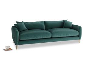 Large Squishmeister Sofa in Timeless teal vintage velvet