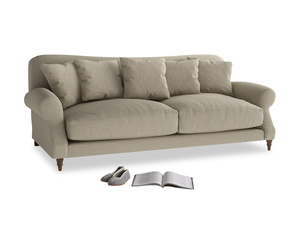 Large Crumpet Sofa in Jute vintage linen