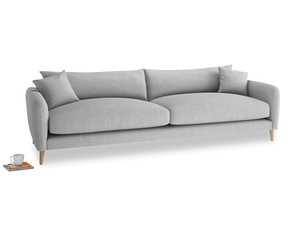 Extra large Squishmeister Sofa in Cobble house fabric
