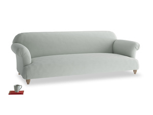 Extra large Soufflé Sofa in Eggshell grey clever cotton