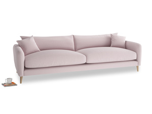 Extra large Squishmeister Sofa in Dusky blossom washed cotton linen