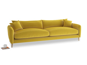 Extra large Squishmeister Sofa in Bumblebee clever velvet