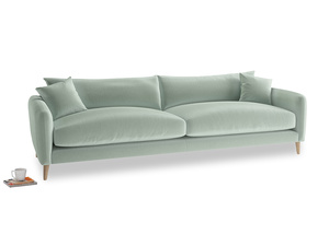 Extra large Squishmeister Sofa in Mint clever velvet