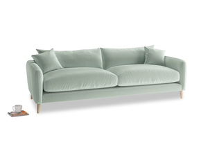 Large Squishmeister Sofa in Mint clever velvet