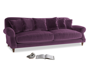 Extra large Crumpet Sofa in Grape clever velvet