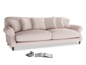 Extra large Crumpet Sofa in Faded Pink brushed cotton